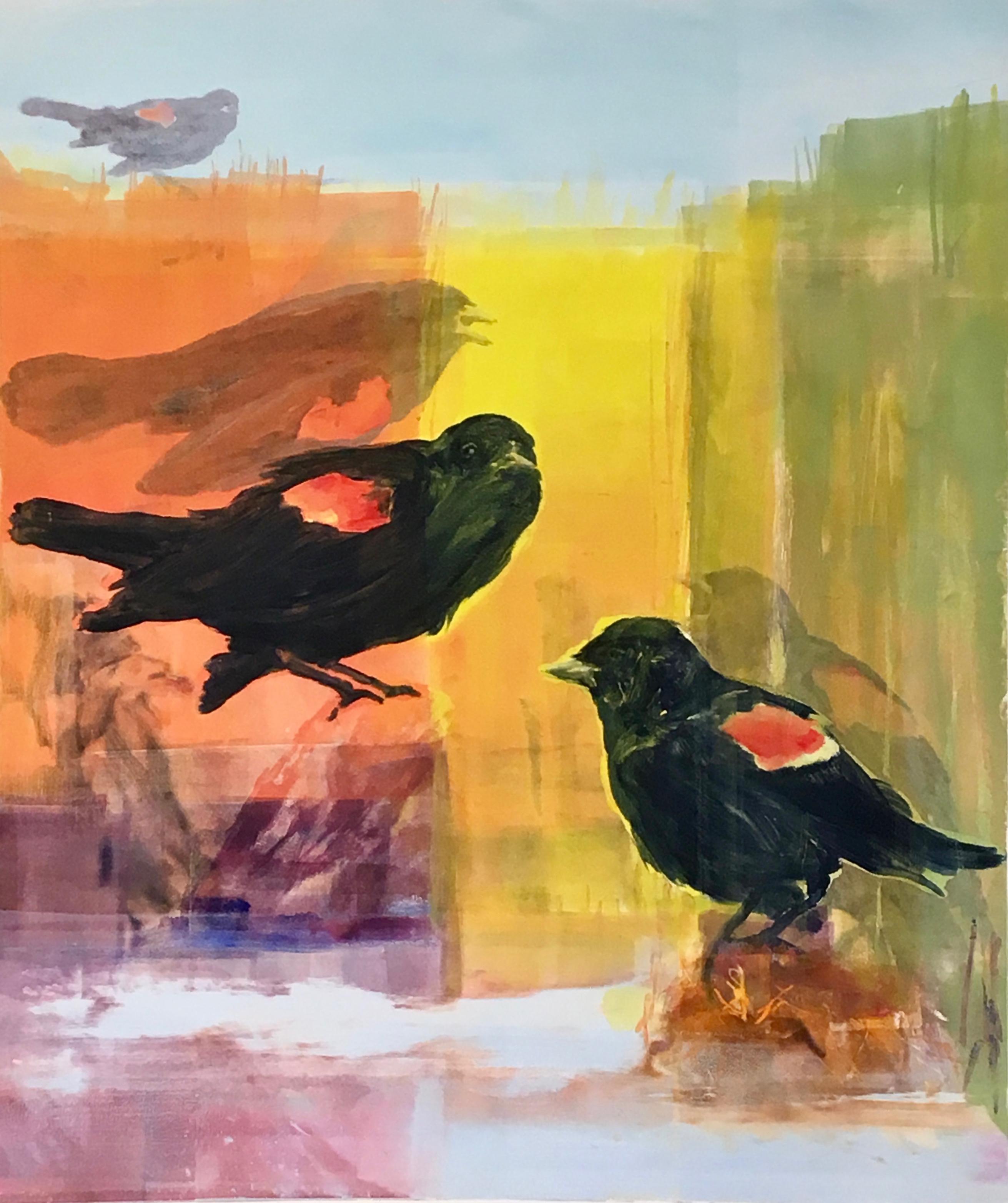 Black Birds On Bowers Brook III