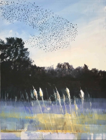 Murmuration over Bowers Brook